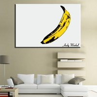 Wholesale Velvet Figure - The Velvet Underground and Nico 1967 Album cover design by Andy Warhol Large size Printing on canvas Oil Painting banana