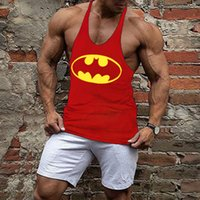 Wholesale Loose Tank Top Pattern - Wholesale- Funny patterns printed men summer casual bodybuilding Tank Top Male muscle loose Vests comfortable
