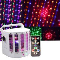 Wholesale Dual Blue Laser - Led Butterfly laser Led derby light 18w Led dual swords light DMX laser lights with remote control DJ Disico Ballroom party lights