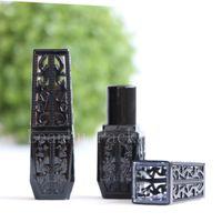 einzigartige kosmetik großhandel-Neue Ankunft Einzigartiges leeres Lippenstiftrohrmake-uplipglossrohrbehälterkosmetisches Lippenstiftflaschenlippenbalsamrohr des schwarzen Quadrats