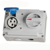 Wholesale Interlocking Switches - QX7274 IP44 3P 16A 230V 6h Industrial Electric Interlock Switch Socket Mechanical Interlock Explosionproof Plug and Socket Outlets
