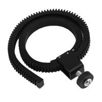 следить за фокусировкой оптовых-Wholesale- Universal Adjustable Flexible Lens Gear Ring Belt Follow Focus For DSLR Camera Focus Zoom Lens