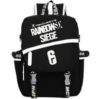 Wholesale Rainbow Canvas Art - Rainbow Six backpack Tom Clancys school bag Shadow Vanguard 6 daypack Game schoolbag Outdoor rucksack Sport day pack