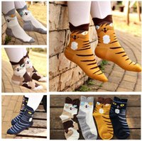 Wholesale High Tops Children - Knee High Socks Cat Cartoon Animal Women Men Top Quality Couple Cute Socks Adult Teenager Ankle Cheap Cotton Big Children Socks