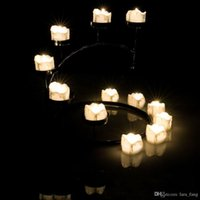 Wholesale Green Led Tea Lights - 2017 Sale Velas Led Christmas 24pcs lot Tear Drop Electronic Tea Light Flicker Romance Flameless Tealight Wedding Birthday Candles
