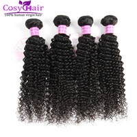 Wholesale Cheap Wholesale Kinky Curly Weave - 8A 100% Unprocessed Brazilian Virgin Kinky Curly Hair Extensions Remy Human Hair Weaves Bundles Cheap Brazilian Human Kinky Curly Hair Wefts