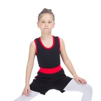 Wholesale Girls Shorts Only - Children SHORTS ONLY Two Tone Roll Down Sports Tight Shorts Girls Training Ballet Dance Hot Pants