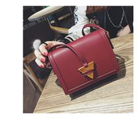 Wholesale Smallest China Cell Phone - 2017 new messenger bag triangle arrow metal small square bag wild shoulder bag made in China