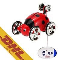 Wholesale Rc Beetle - 36pcs lot Mini RC Stunt Car 360 Degree Rotation Beetle Cars 4CH Radio Remote Control Vehicle 9 Colors Toys for Kids Christmas Gift