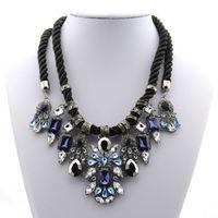 Wholesale Vintage Rhinestone Choker Collar - Wholesale Gorgeous Gem Collars Maxi Collar Multi Layer Crystal Statement Necklace Vintage Choker Necklaces & Pendants For Women
