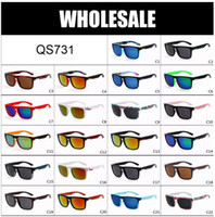 Wholesale Scratching Cats - WHOLESALE - Quick Fashion Sunglasses Men's outdoor Beach Sun glasses the Ferris silver 22 color in stock QS731