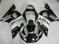 Wholesale 99 r6 plastics resale online - Bodywork plastic fairing kit for Yamaha YZR R6 west sticker black fairings set YZFR6 HT17