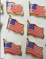 metal amerika bayrağı toptan satış-Çevre Dostu Amerikan Bayrağı Metal Rozet Yaratıcı Metal Rozet Broş American Flag Metal Rozet 2 * 2cm Parti Dekorasyon Malzemeleri
