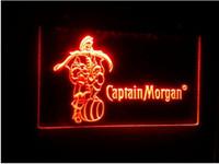 captain morgan neon barra de luz venda por atacado-Capitão Morgan Spiced 2 tamanho Rum Bar NR LED sinal de luz de néon