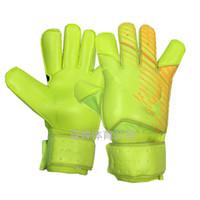 Wholesale real logo - 2018 Logo Nk VG3 Goalie Gloves Professional Goalkeeper Gloves Anti-slip Gloves-latex plam Goal Keeper Gloves
