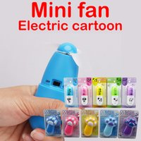 Wholesale Cartoon Plastic Fan - Mini Fan Capsule   Cat Claw Emoji Expression Cartoon Electric Handheld Fan With Lanyard Kids Toys summer toys 5 Color Mix wholesale