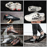 spring meanings - 2017 Patta x Mean Eyed Cat Canvas Shoes Classic Black White Women And Mens Old Skool Casual Sneakers Skateboard Shoes