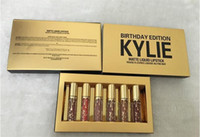 Lip Gloss Kylie Gold Compleanno Editon Kylie 6Pcs Kit Kit Lip Kit Kylie Jenner Liquid Matte Rossetto Good Qualiy
