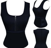 Wholesale sauna lights resale online - Body Shaper Women Slimming Vest Thermo Neoprene Waist Trainer Neoprene Sauna Vest Vest Adjustable Waist Trainer Body Shaper KKA2738