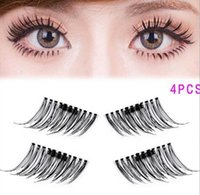 Wholesale Wholesale Individual Silk Eyelashes - Creative NEW trend 3D magic reusable magnetic eyelashes hand made silk single magnet false eyelashes 9styles