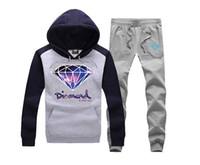 sudadera con capucha de diamante al por mayor-Diamond Supply Co con capucha ropa para hombre diamantes sudaderas hip hop con capucha nueva sudadera ropa para hombres con capucha + pantalones