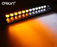 Wholesale Led Amber Warning Lightbar - 12 LED Car Strobe Warning Amber White Lightbar Fireman Policeman Flashing Boat Emergency Storbing Fire traffic signal light