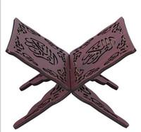 ingrosso libro stand per la lettura-Supporto del corano all'ingrosso-Corano lettura pieghevole Stand Rehal in legno scolpito Islam Quran Book Stand Holder