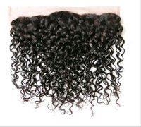 Wholesale Long Curly Human Weave - Brazilian Curly 13*4 Ear To Ear Lace Frontal Closure Virgin Hair Weave Bundles 100% Human Hair