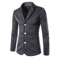 Wholesale Wholesale Fitted Suits - Wholesale- 2017 Spring New Brand Clothing Suit Coat Mens Blazer Slim Fit Male Costume Homme Suit Jacket Masculine Blazer