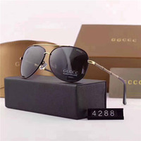 Wholesale Travel Eyeglass Box - High-quality imported materials HD polarized European brand sunglasses fashion designer glasses outdoor travel eyeglasses with box 4288