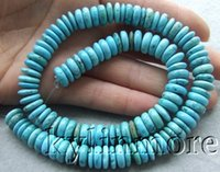 Wholesale 8SE10617 x10mm Blue Turquoise Rondelle Beads