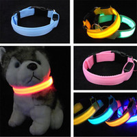 Wholesale Mardi Gras Necklaces - LED Flashlight Pet Supplies Cat Dog LED Collar Safety Glow Necklace Flashing Lighting LED Light Dog Collar Cute Teddy Bear Luminous Collars