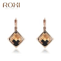ROXI Brand Champagne Gold Earring For Women Earring Elegante Womens Zircon Crystal Earrings Women Party Jewelry Gift de Natal