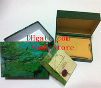 Wholesale Metal Case Watches - Brand New 116610 116660 Gmt Luxury Green Original Box Wooden Watch Box Papers Card Wallet Boxes & Cases Sports Wristwatches Box