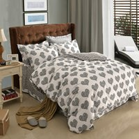 Wholesale Black Polka Dot Bedding - Black and White Polka Dot Heart Colorful Plaid Geometric Bedding Set Queen King Size Duvet Cover Brushed Cotton Fabric Textiles