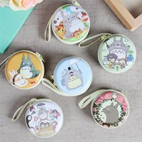 Wholesale Cartoon My Neighbor Totoro Earphone Headphones Portable Storage Case Bag Coin Pocket Box Wallet Purse cm cm