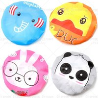 Wholesale Japanese Style Caps - Wholesale- 2016 hot sale 1pcs bag cute cartoon super Elastic Band Hat Bath Cap Cute Cartoon Shower Hats Japanese-style waterproof Bath cap