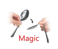 sihirli çanak oyuncak toptan satış-Sihirli Hileler aklını bükerek bir kaşık yakın çekim sihirli çocuk oyuncakları Çocuk Noel hediyeleri a845