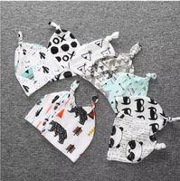 мальчики панда шляпу оптовых-Бесплатная DHL 19 стиль дети Рождество модули очищенный хлопок шляпы мальчиков девочек мода мультфильм модули Фокс панда тигр полосой шапки