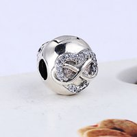 2017 New Real Authentic 925 Sterling Silver Love CZ Clip Europeu Charms Bead Fit Pandora Cadeia Pulseira DIY Moda Jóias