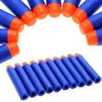 Wholesale Wholesale Soft Dart Guns - 100Pcs Blue Refill Soft Foam Bullets 7.2cm(2.84') For Neft N-Strike Elite Series Blaster Toy Gun