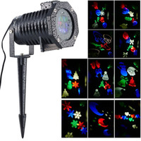 Wholesale Outdoors Led Rgb Spotlight - LED FloodLight Outdoor Waterproof IP65 Laser Firefly Stage Lights 10 Patterns Landscape Spotlight Christmas Projector LED Garden Lawn Lamps