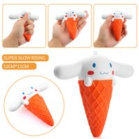Acheter Glace aux animaux-2017 Kawaii Squishy Jumbo 11 CM Big Ear Doll Cartoon Glace Squeeze Slow Rising Animal Scented Pain Gâteau Kid Toy en gros