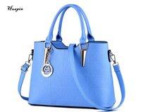Wholesale Summer Messenger Bags - 2017huapin Spring and summer new fashion Messenger bag Handbag big bag Shoulder bag ladies Free shipping