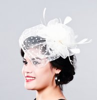 Wholesale Crinoline Hair - Charming multiple color crinoline fascinator headwear party headpiece millinery hair accessoiry suit for all seasons MD16004
