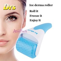 Wholesale Sets Cold - 2Models ABS or Stainless steel wheel New Skin Cool Ice Roller Cold Therapy Face Body arm foot Facial derma Massage Skin Care set kit Machine