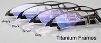 Wholesale Demo Lenses - 2017 New Men Glasses Eyewear Titanium Rimless Frame Women Eyeglasses Spectacle Lightweight Concise Hyperelastic Temple Clear Demo Lens RX