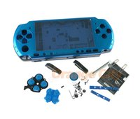 Wholesale Replacement Game Cases - Multi Color for Sony PSP3000 PSP 3000 Game Console replacement full housing shell cover case with buttons kit
