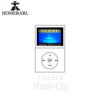 Wholesale 1gb Metal Clip Mp3 Player - Wholesale- Hot 1.2'' LCD Screen Metal Mini Portable Clip MP3 Player With Micro TF SD Memory Card Slot + Charge USB Cable.No FM Radio 2B68