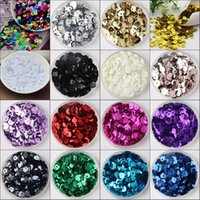 Wholesale Loose Cup Sequins - 2500pcs 30g 6mm silver-based colors PVC round cup loose sequins Paillettes sewing wedding Craft ,Women Garment Diy Accessories 1-10